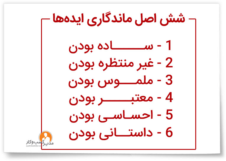 شش اصل ماندگاری